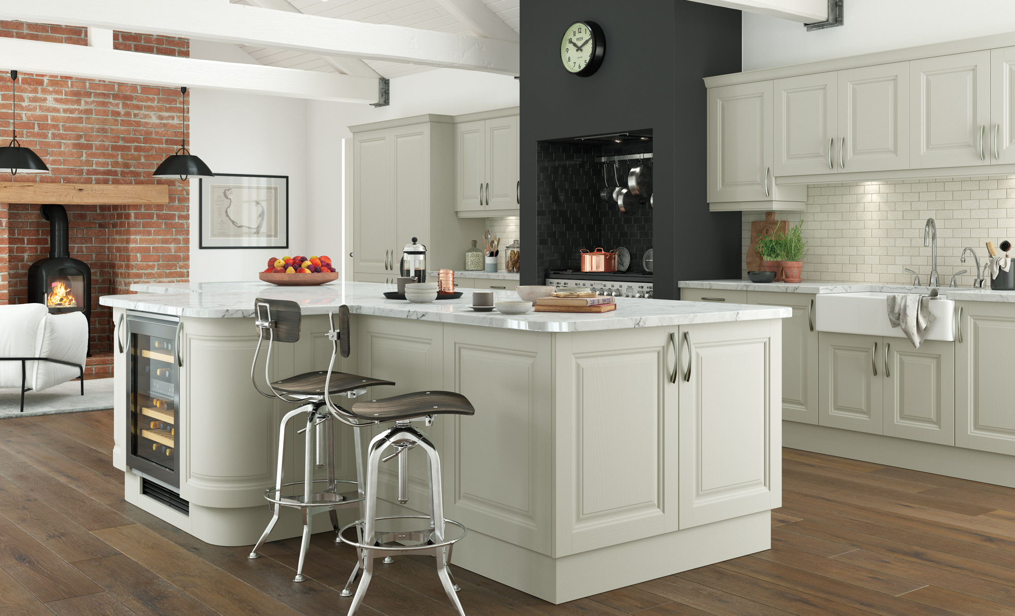 Classic Traditional Country Kitchen - Jefferson Painted Mussel Kitchen - Kitchen Design - Alan Kelly Kitchens - Waterford