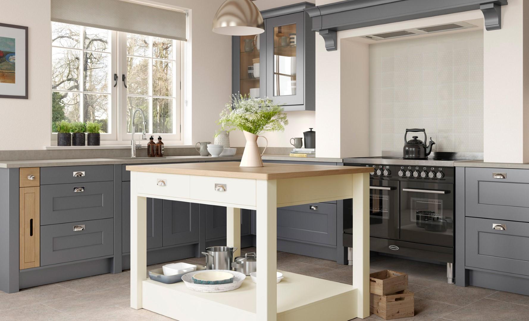 Classic Traditional Kitchen - Florence Dust Grey, Porcelain Kitchen - Kitchen Design - Alan Kelly Kitchens - Waterford
