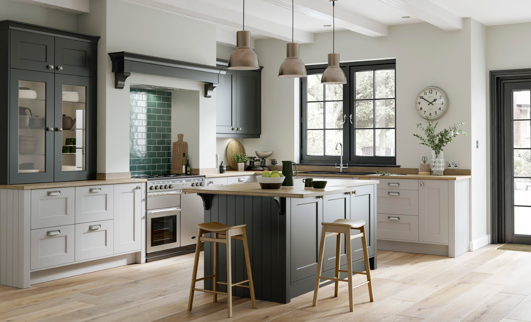 Classic Traditional Kitchen - Florence Graphite, Light Grey Kitchen - Kitchen Design - Alan Kelly Kitchens - Waterford