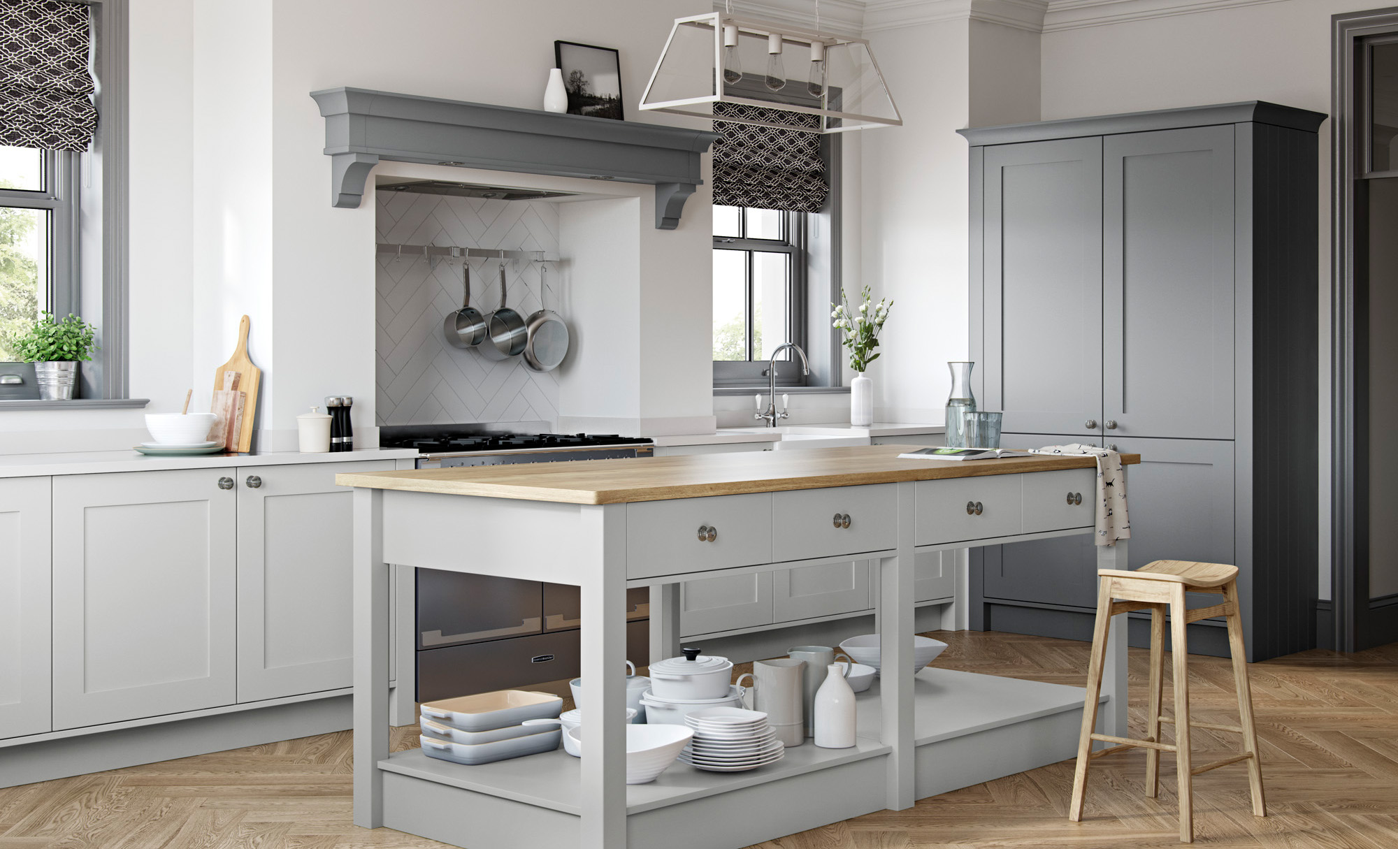 Classic Traditional Kitchen - Georgia Light Grey, Dust Grey Kitchen - Kitchen Design - Alan Kelly Kitchens - Waterford