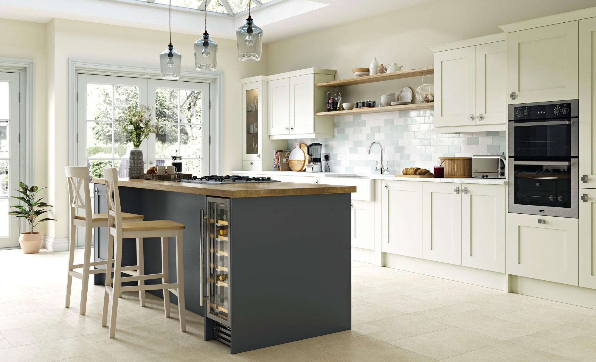 Classic Traditional Kitchen - Georgia Porcelain, Graphite - Kitchen Design - Alan Kelly Kitchens - Waterford