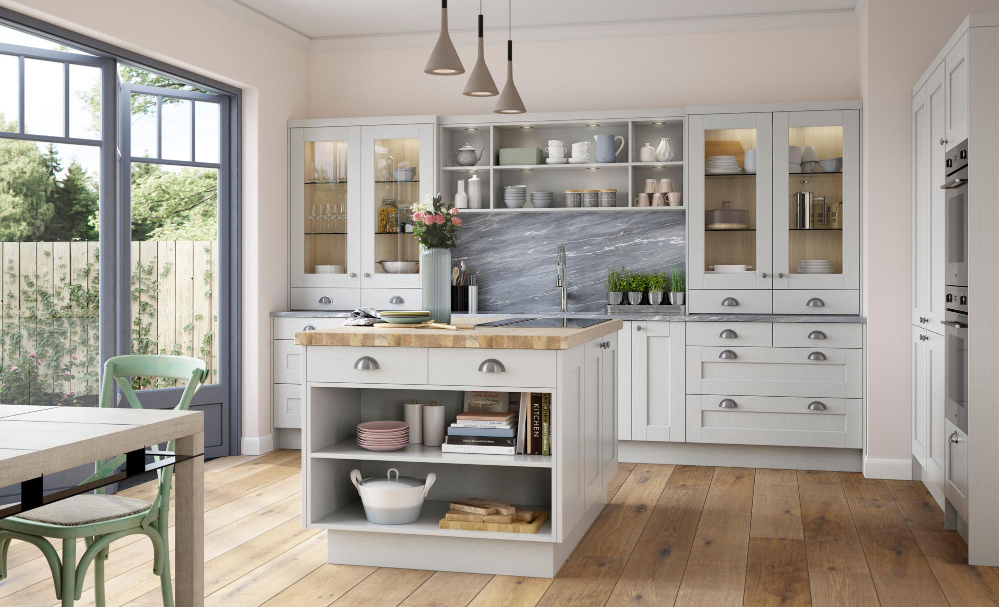 Classic Traditional Kitchen - Kensington Light Grey Kitchen - Kitchen Design - Alan Kelly Kitchens - Waterford