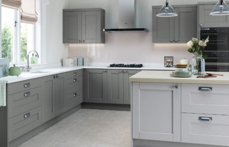 Classic Traditional Kitchen - Kensington Light Grey and Dust Grey Kitchen - Kitchen Design - Alan Kelly Kitchens - Waterford