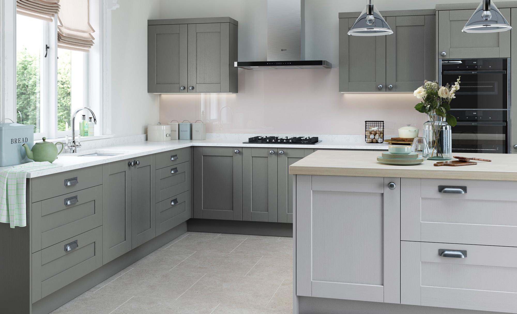 Classic Traditional Kitchen - Kensington Light Grey and Dust Grey Kitchen - Kitchen Design - Alan Kelly Kitchens - Waterford