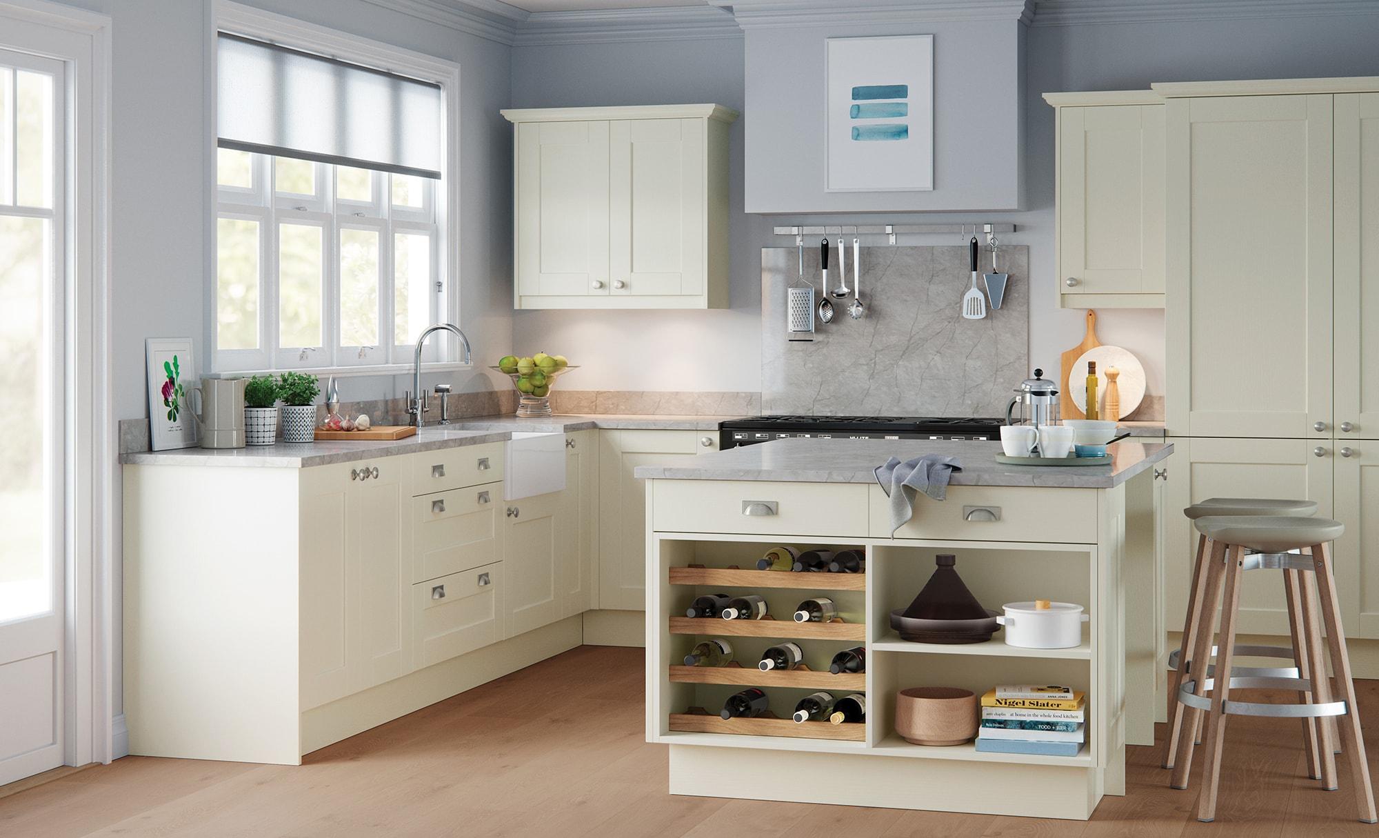 Classic Traditional Kitchen - Kensington Painted Porcelain Kitchen - Kitchen Design - Alan Kelly Kitchens - Waterford