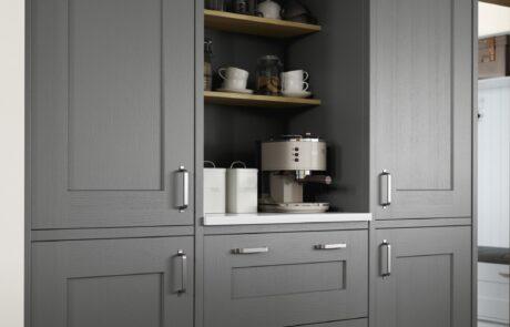 Clonmel Pantry Blue and Gun Metal Grey - Kitchen Design - Alan Kelly Kitchens - Waterford - 1