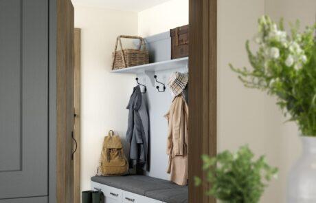 Clonmel Pantry Blue and Gun Metal Grey - Kitchen Design - Alan Kelly Kitchens - Waterford - 2