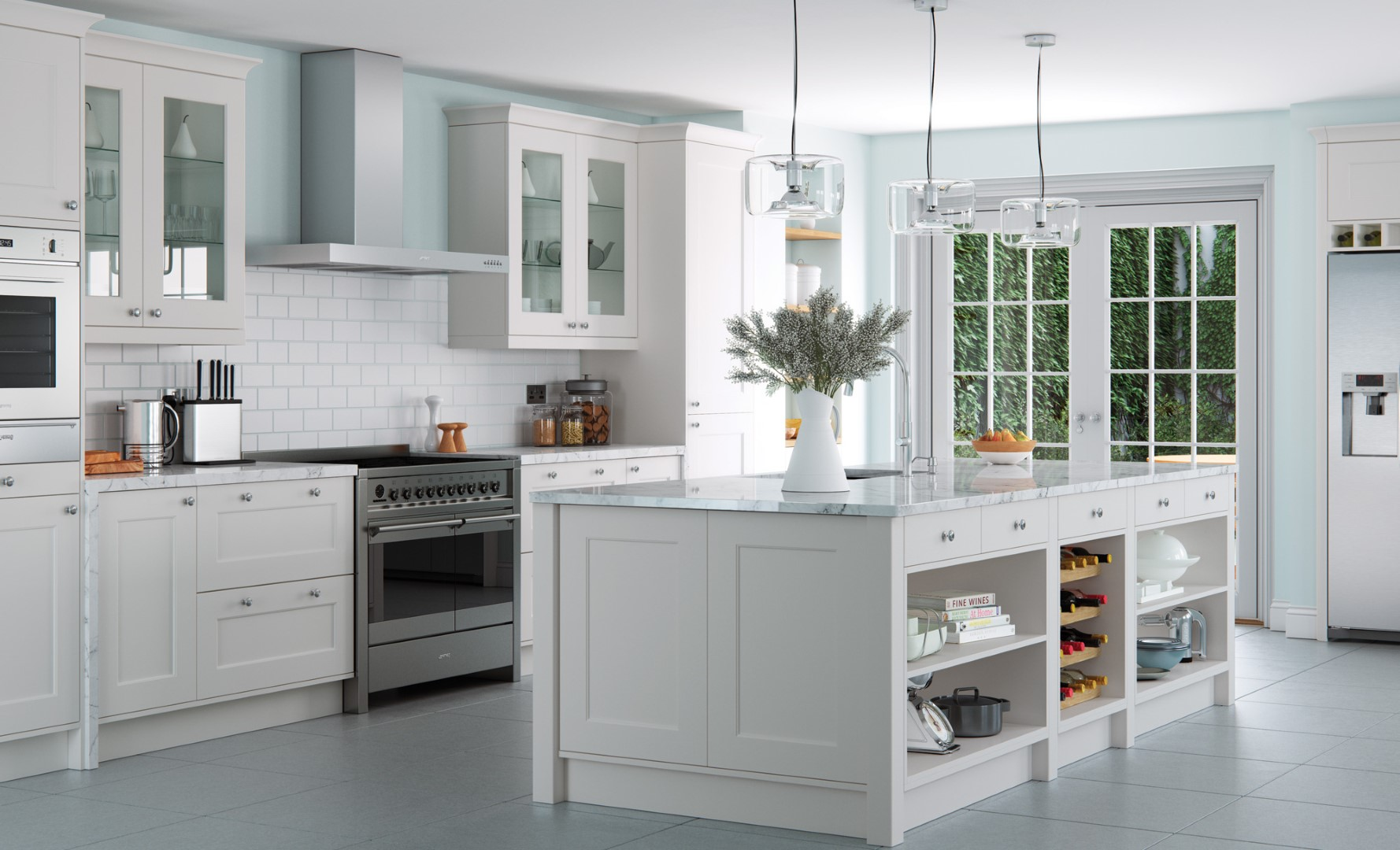 Contemporary Modern Kitchen - Florence Painted Porcelain Kitchen - Kitchen Design - Alan Kelly Kitchens - Waterford