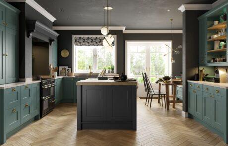 Contemporary Modern Kitchen - Florence Viridian, Graphite Kitchen - Kitchen Design - Alan Kelly Kitchens - Waterford