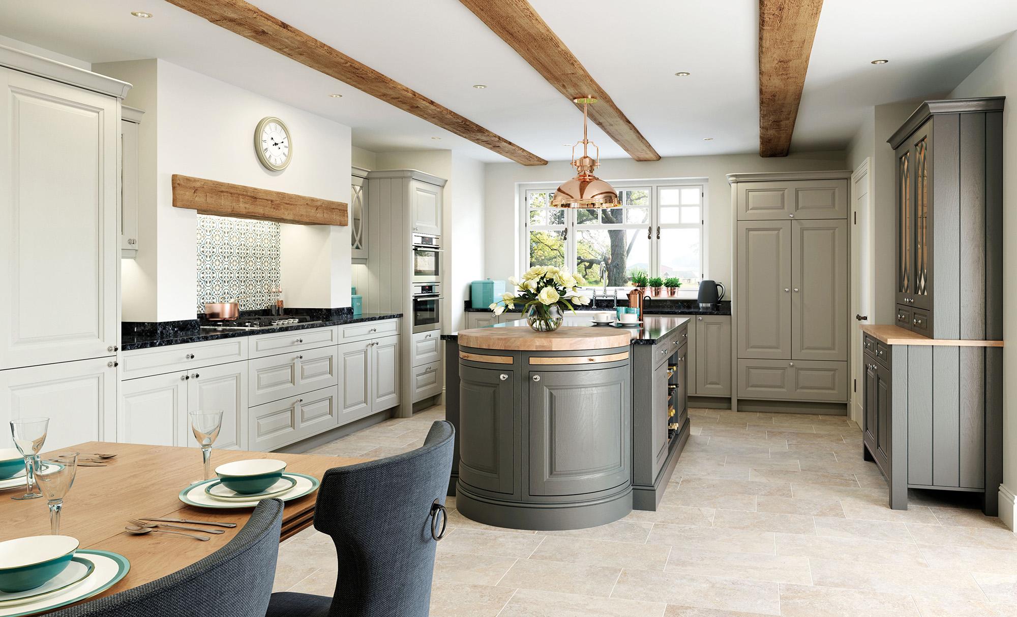 Country Classic Traditional Kitchen - Jefferson Stone and Gun Metal Grey Kitchen - Kitchen Design - Alan Kelly Kitchens - Waterford