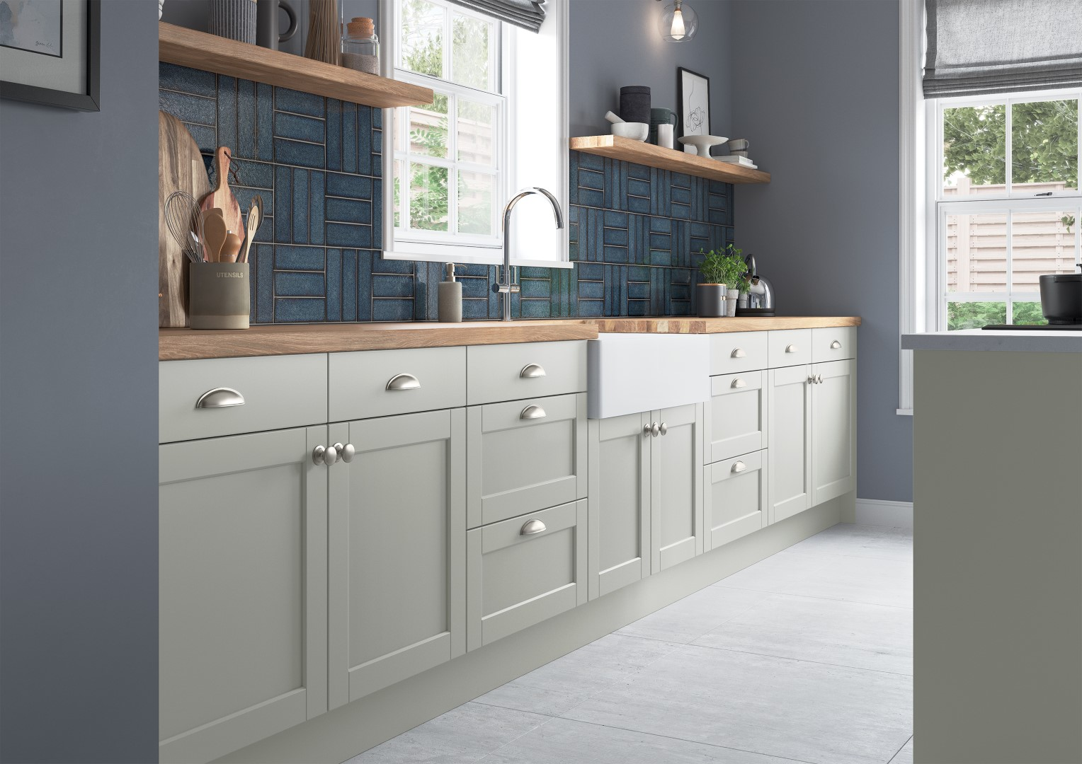 Dawson Light Grey - Kitchen Design - Alan Kelly Kitchens - Waterford - 1