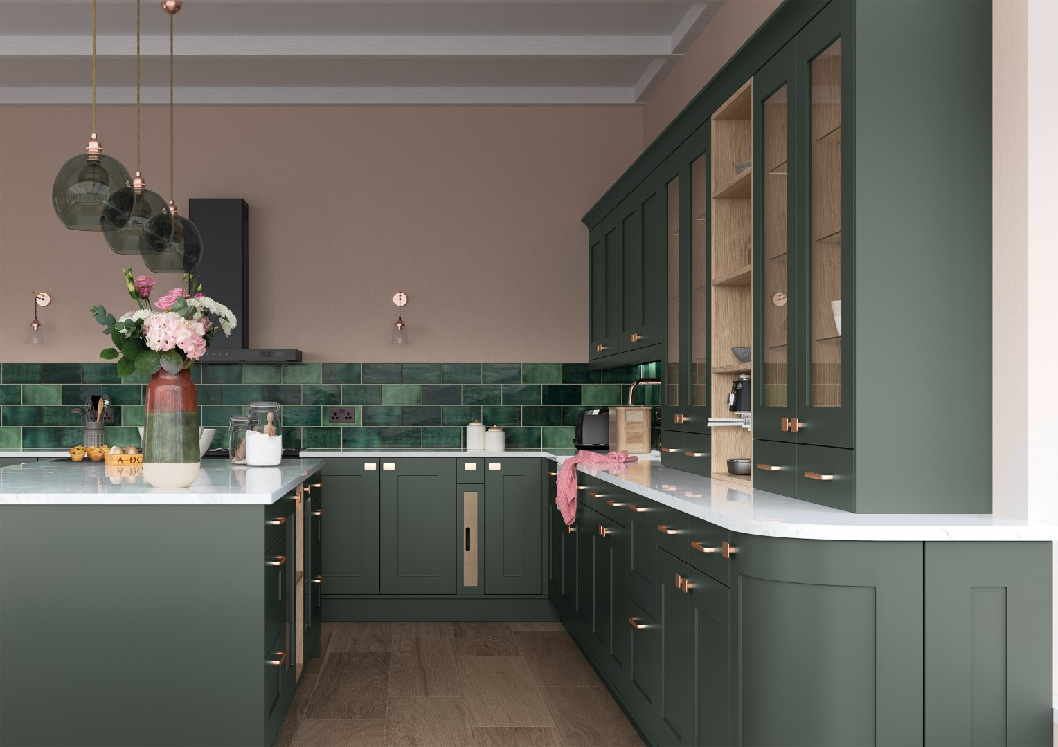 Georgia Deep Forest - Kitchen Design - Alan Kelly Kitchens - Waterford - 2
