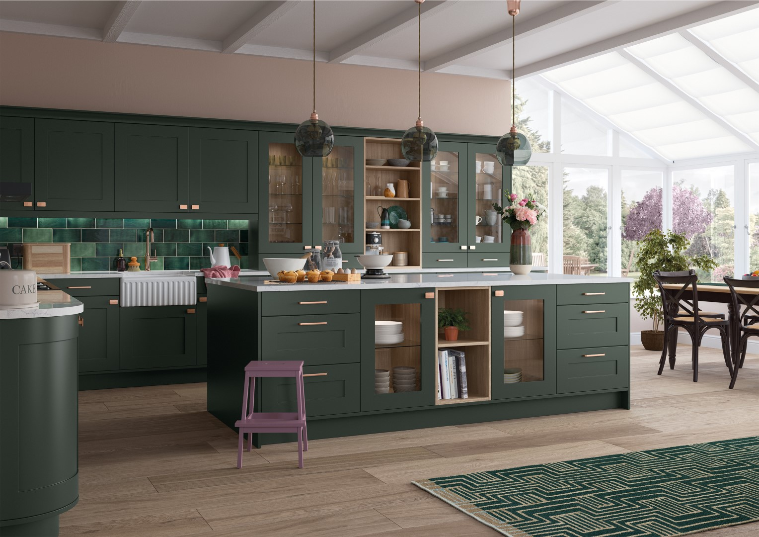 Georgia Deep Forest - Kitchen Design - Alan Kelly Kitchens - Waterford - 5