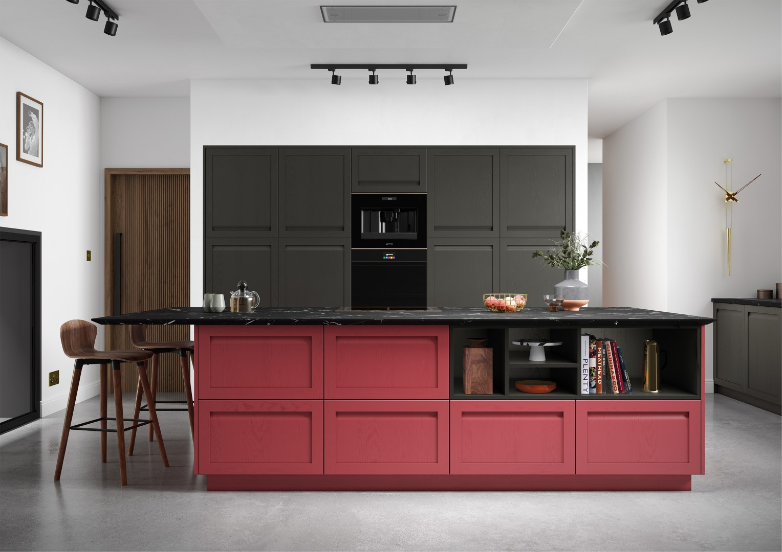 Harborne Graphite and Chicory Red - Kitchen Design - Alan Kelly Kitchens - Waterford - 5