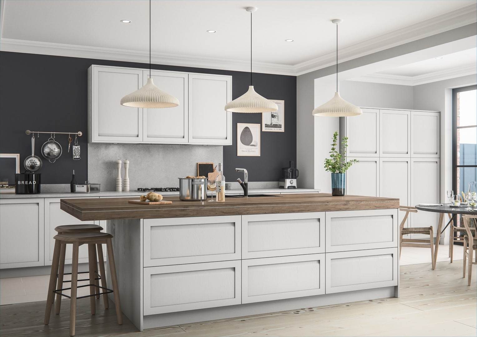 Harborne Light Grey - Kitchen Design - Alan Kelly Kitchens - Waterford - 1
