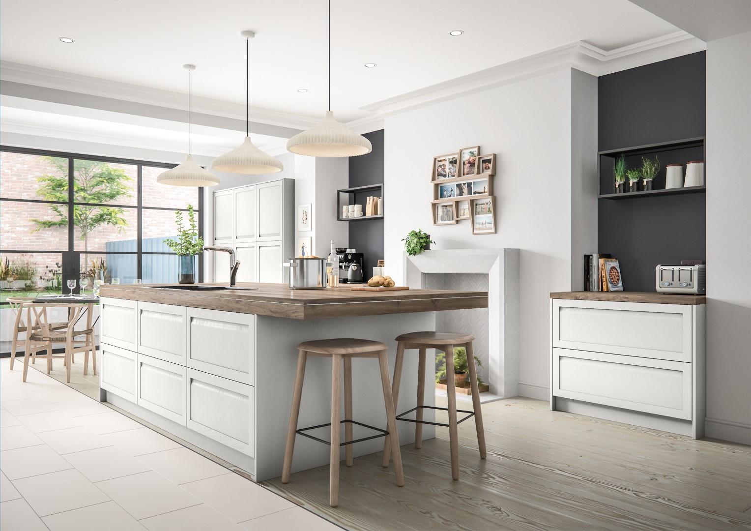 Harborne Light Grey - Kitchen Design - Alan Kelly Kitchens - Waterford - 2