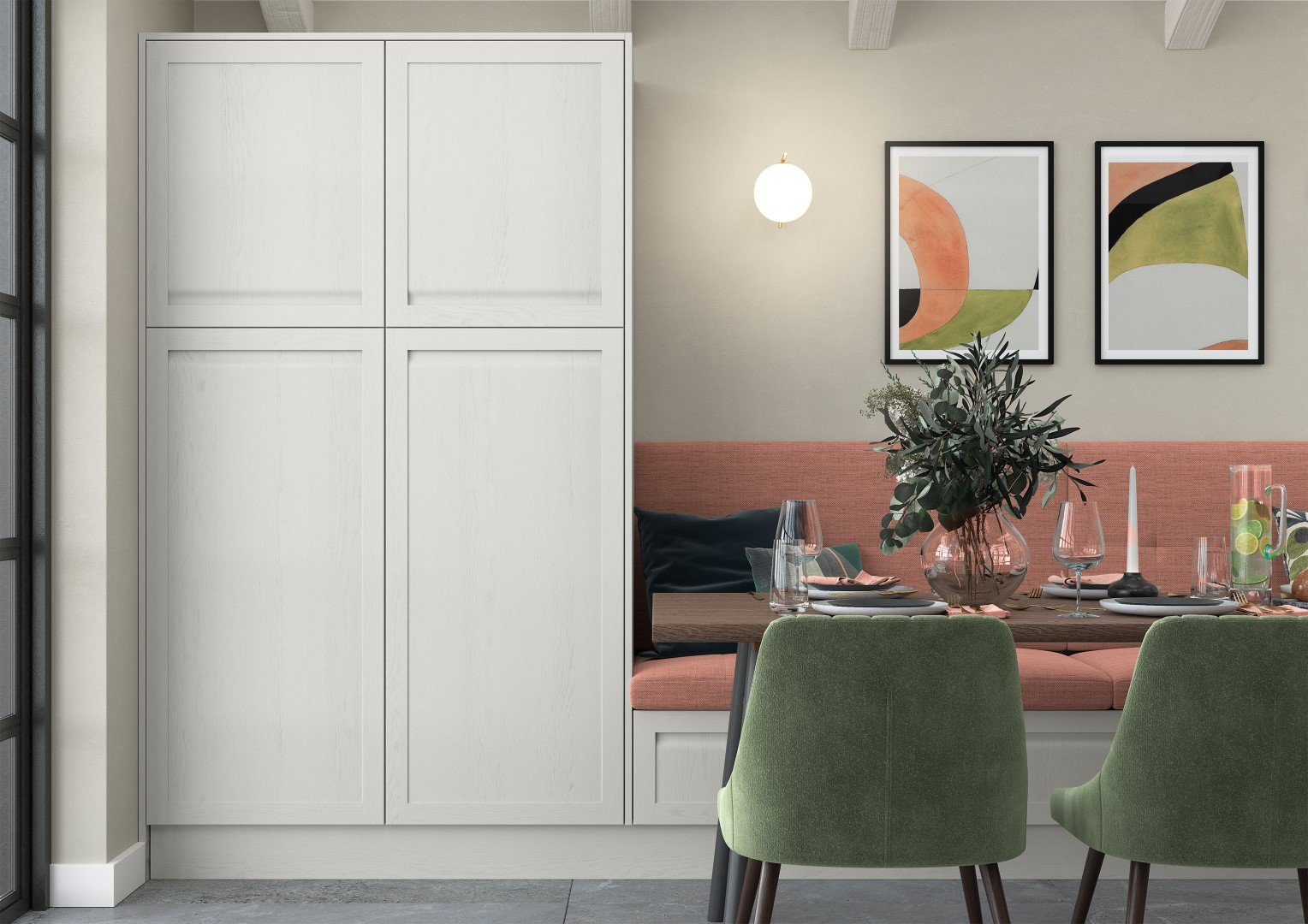 Harborne Slate Blue, Stone and Citrus Green - Kitchen Design - Alan Kelly Kitchens - Waterford - 3