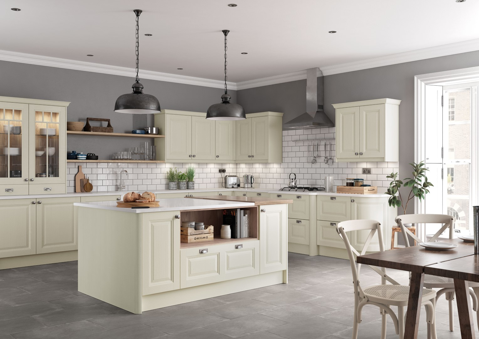 Jefferson Ivory Kitchen - Kitchen Design - Alan Kelly Kitchens - Waterford - 2