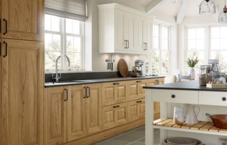 Jefferson Light Oak and Ivory Kitchen - Kitchen Design - Alan Kelly Kitchens - Waterford - 2