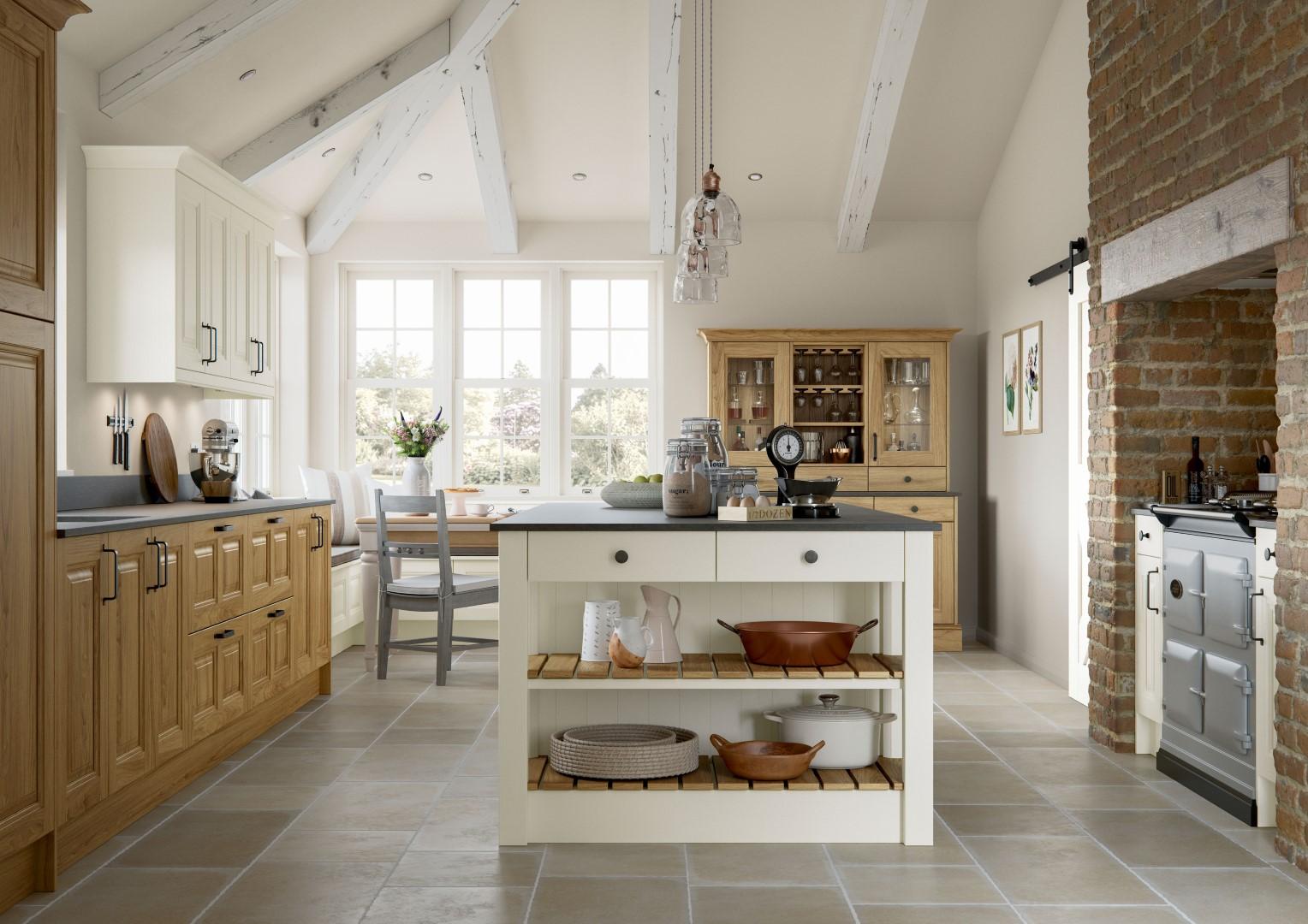 Jefferson Light Oak and Ivory Kitchen - Kitchen Design - Alan Kelly Kitchens - Waterford - 5
