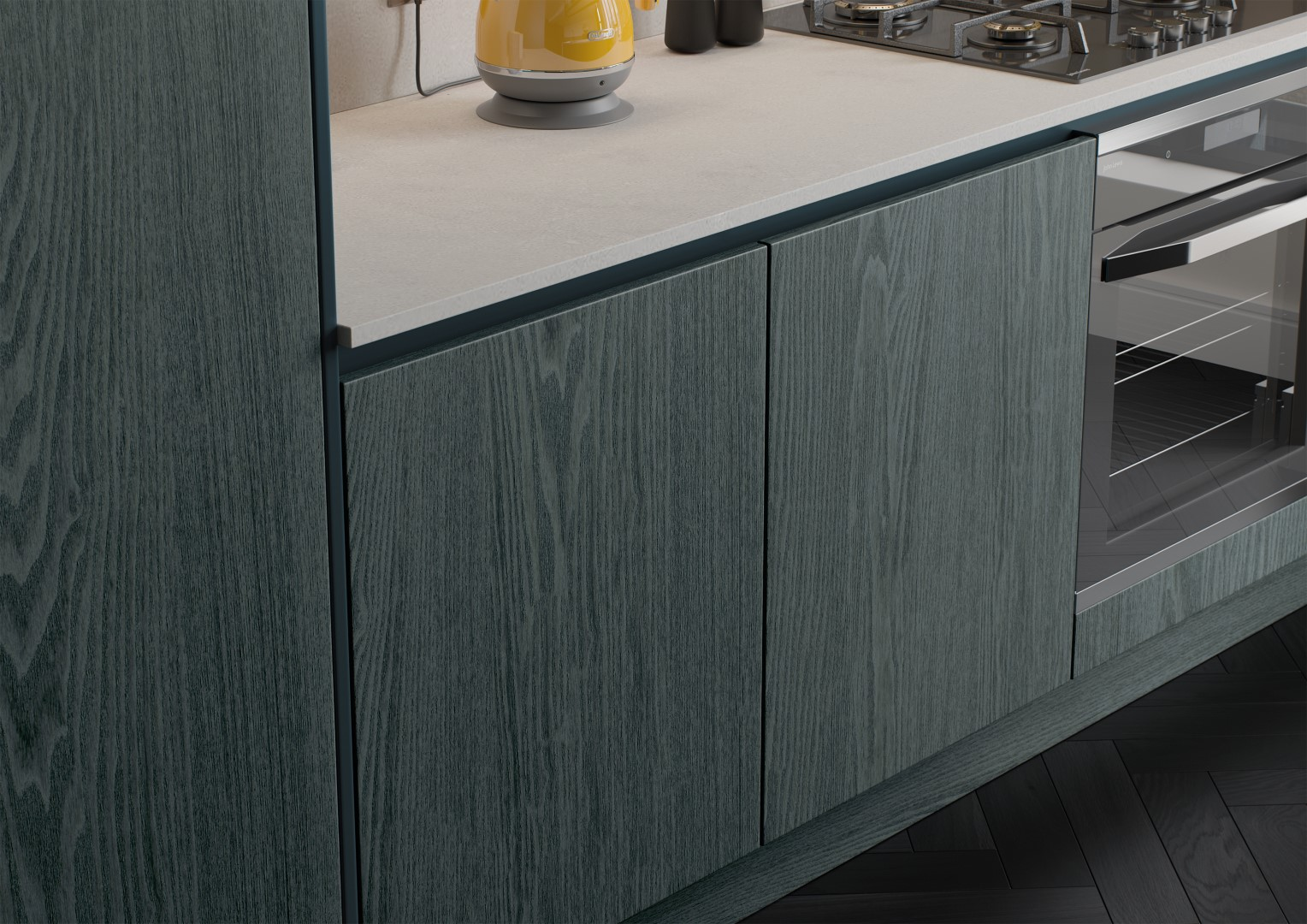 Kelso Stained Pacific Blue and Zola Matte Marine - Kitchen Design - Alan Kelly Kitchens Waterford - 4