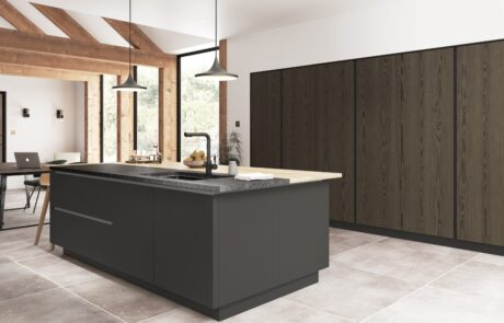 Kelso stained Truffle Grey and Zola Matte Graphite - Kitchen Design - Alan Kelly Kitchens - Waterford - 4