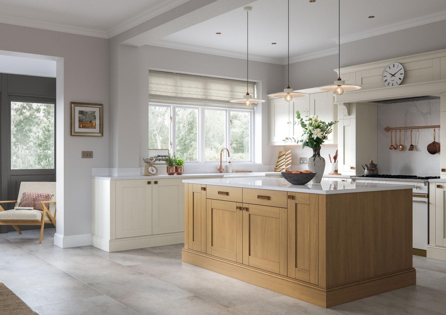 Madison Light Oak and Ivory - Kitchen Design - Alan Kelly Kitchens - Waterford - 1
