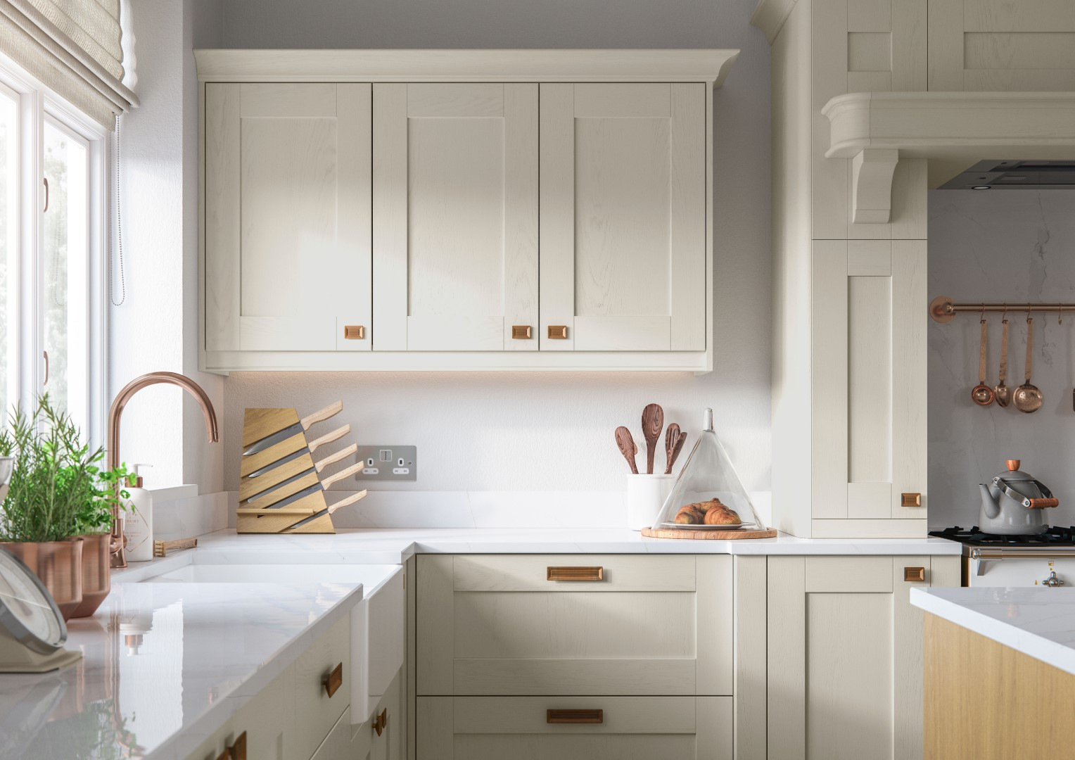 Madison Light Oak and Ivory - Kitchen Design - Alan Kelly Kitchens - Waterford - 4