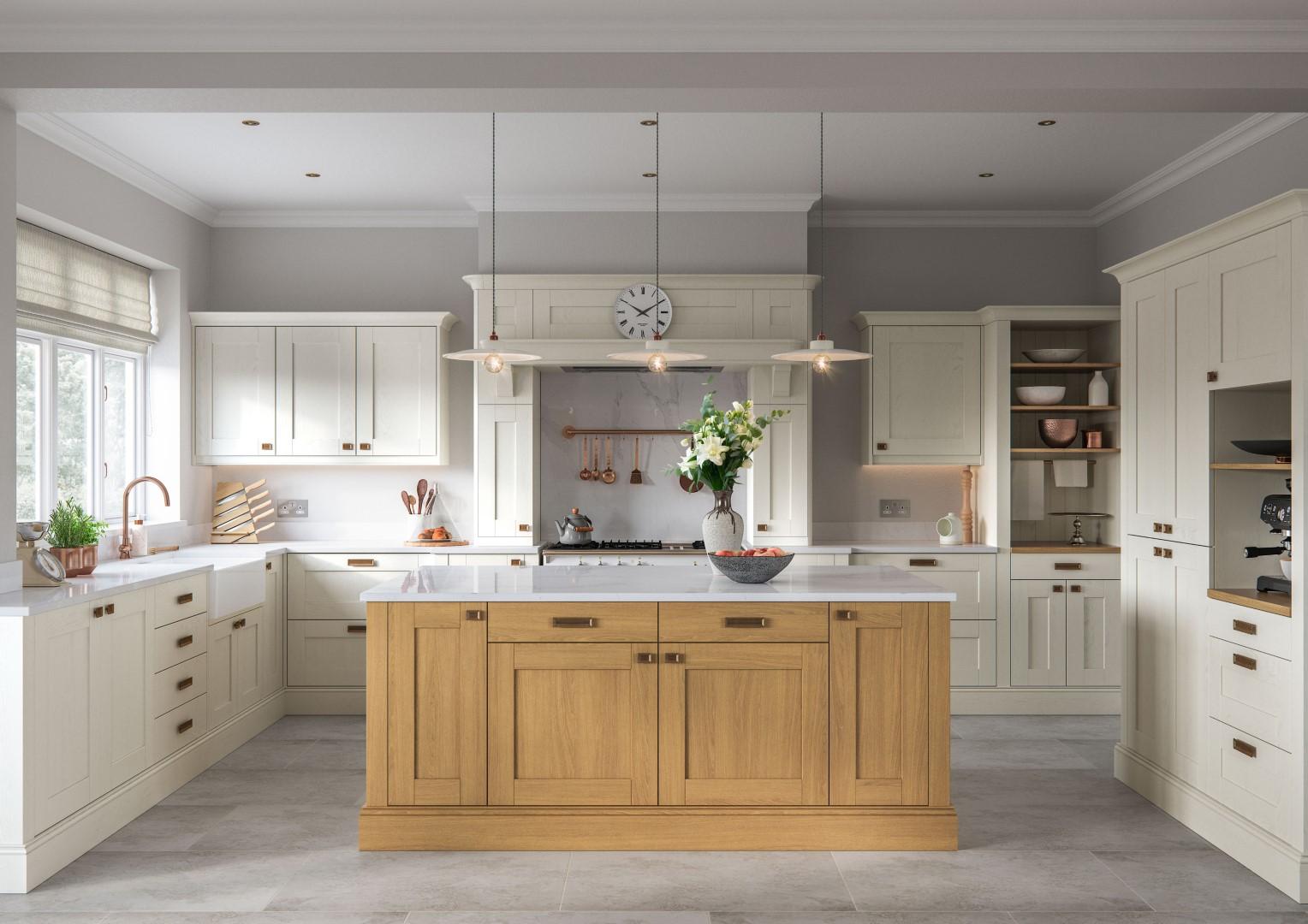 Madison Light Oak and Ivory - Kitchen Design - Alan Kelly Kitchens - Waterford - 5