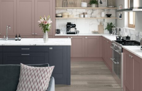 Madison Vintage Pink and Slate Blue - Kitchen Design - Alan Kelly Kitchens - Waterford - 1