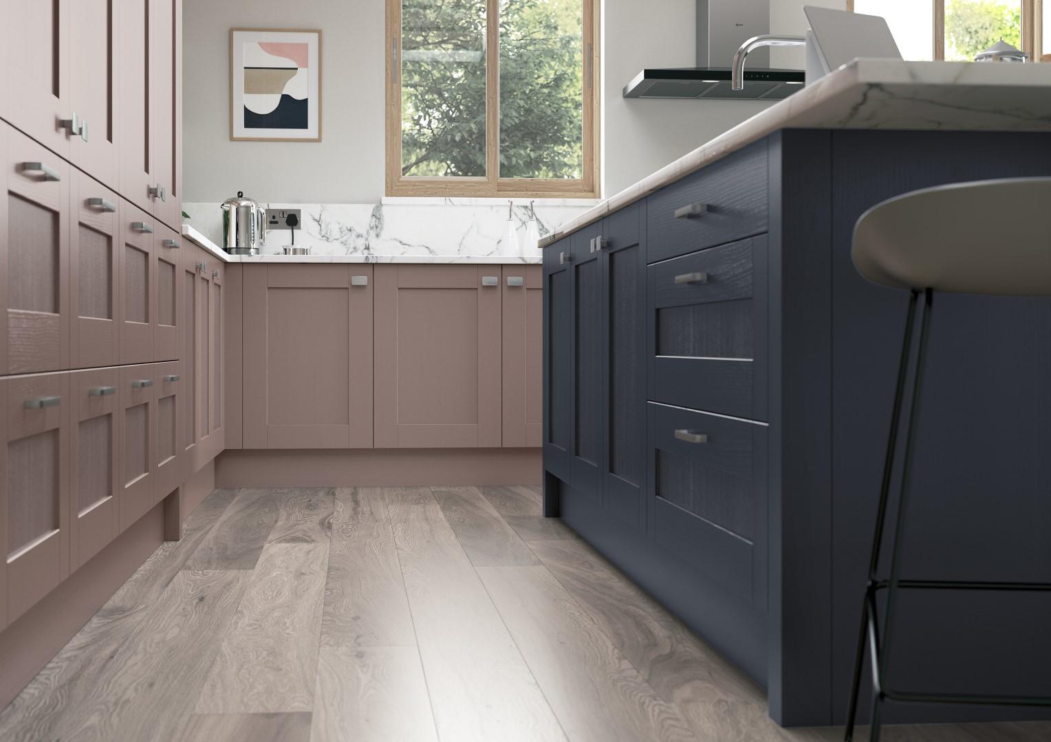 Madison Vintage Pink and Slate Blue - Kitchen Design - Alan Kelly Kitchens - Waterford - 2