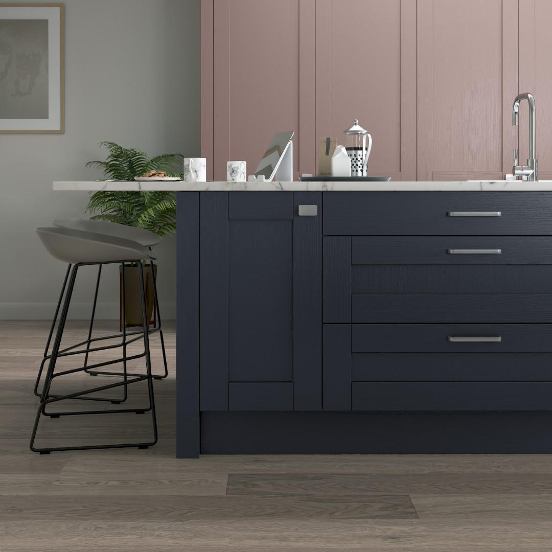 Madison Vintage Pink and Slate Blue - Kitchen Design - Alan Kelly Kitchens - Waterford - 3