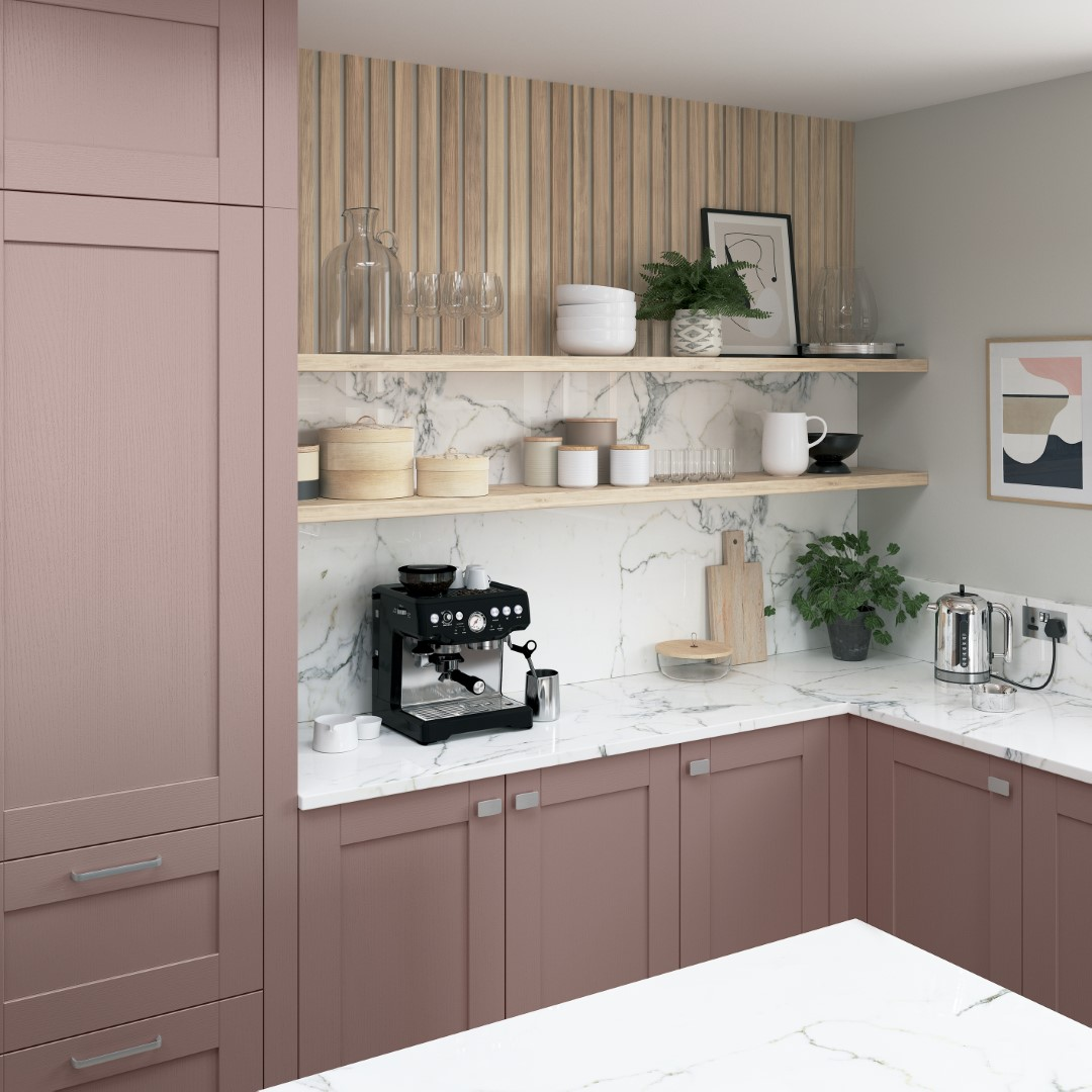 Madison Vintage Pink and Slate Blue - Kitchen Design - Alan Kelly Kitchens - Waterford - 4