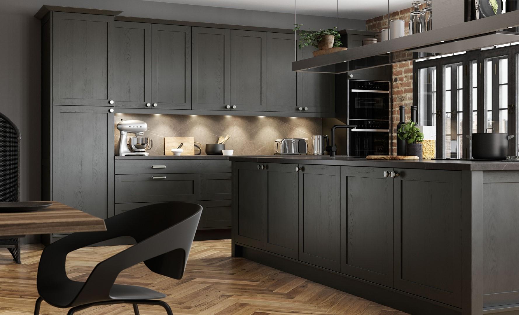 Modern Contemporary Aldana Graphite - Kitchen Design - Alan Kelly Kitchens - Waterford