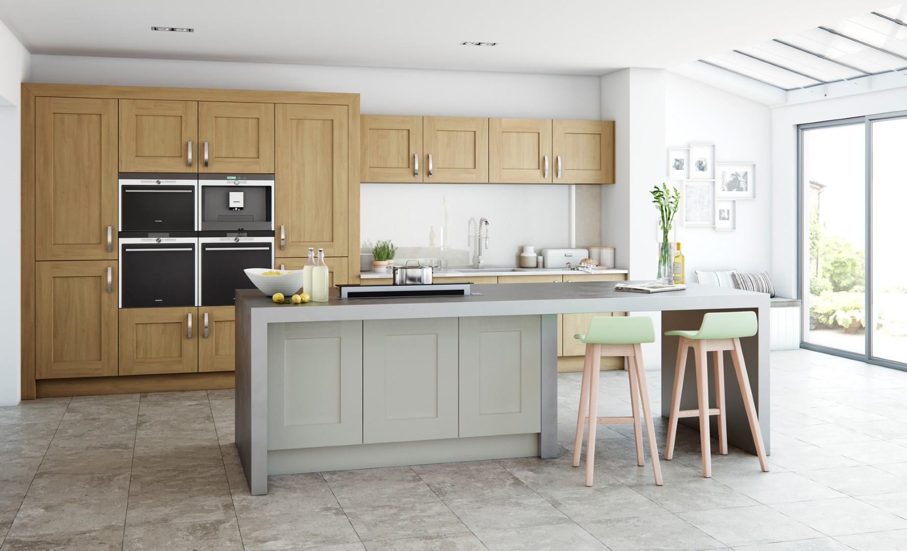 Modern Contemporary Classic Kitchen - Clonmel Oak, Painted Stone Kitchen - Kitchen Design - Alan Kelly Kitchens - Waterford