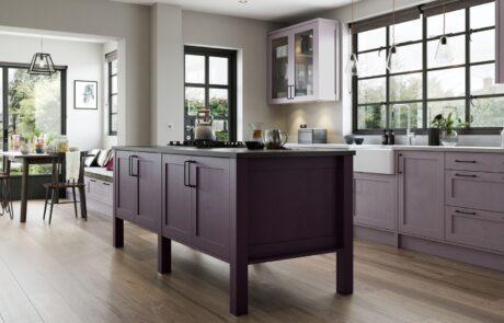 Modern Contemporary Aldana Kitchen - Deep Heather, Lavender, Grey Kitchen - Kitchen Design - Alan Kelly Kitchens - Waterford