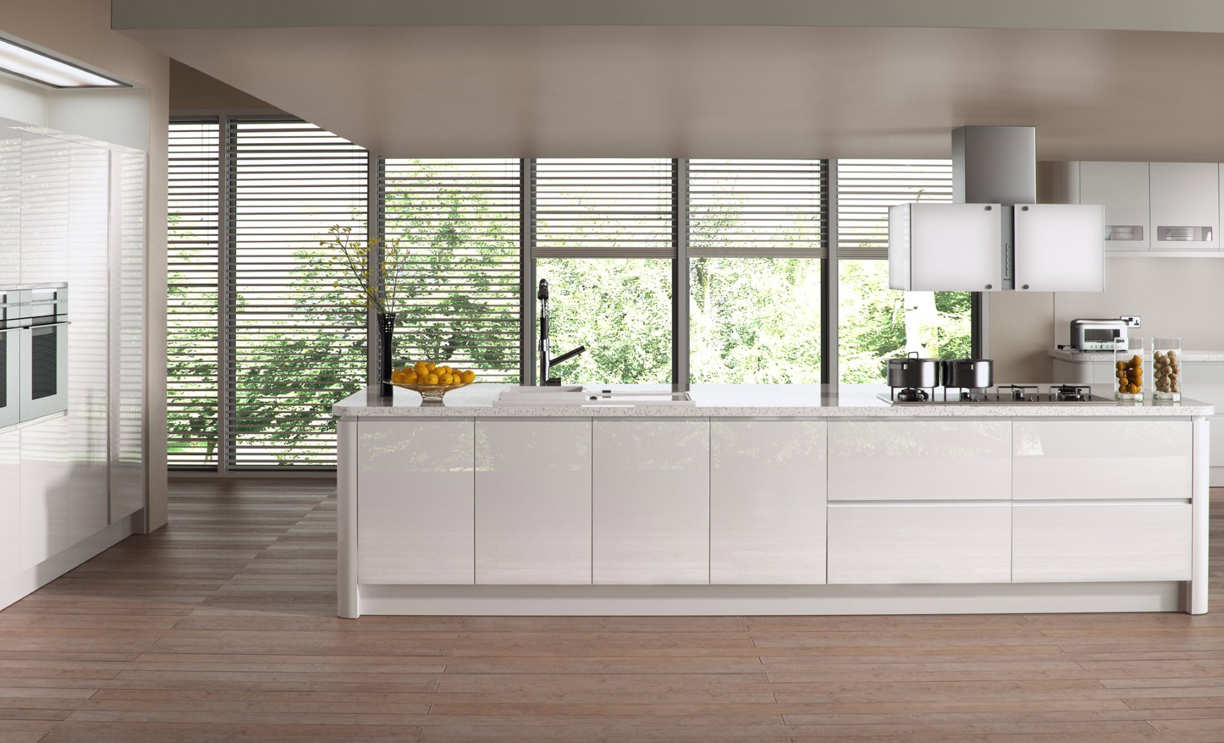 Modern Contemporary High Gloss Kitchen - Strada Gloss White Kitchen - Kitchen Design - Alan Kelly Kitchens - Waterford