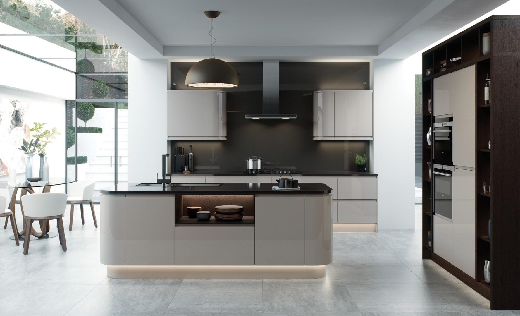 Modern Contemporary Kitchen - Strada Gloss Cashmere Kitchen - Kitchen Design - Alan Kelly Kitchens - Waterford