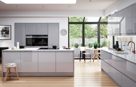 Modern Contemporary Kitchen - Strada Gloss Light Grey and Dust Grey Kitchen - Kitchen Design - Alan Kelly Kitchens - Waterford