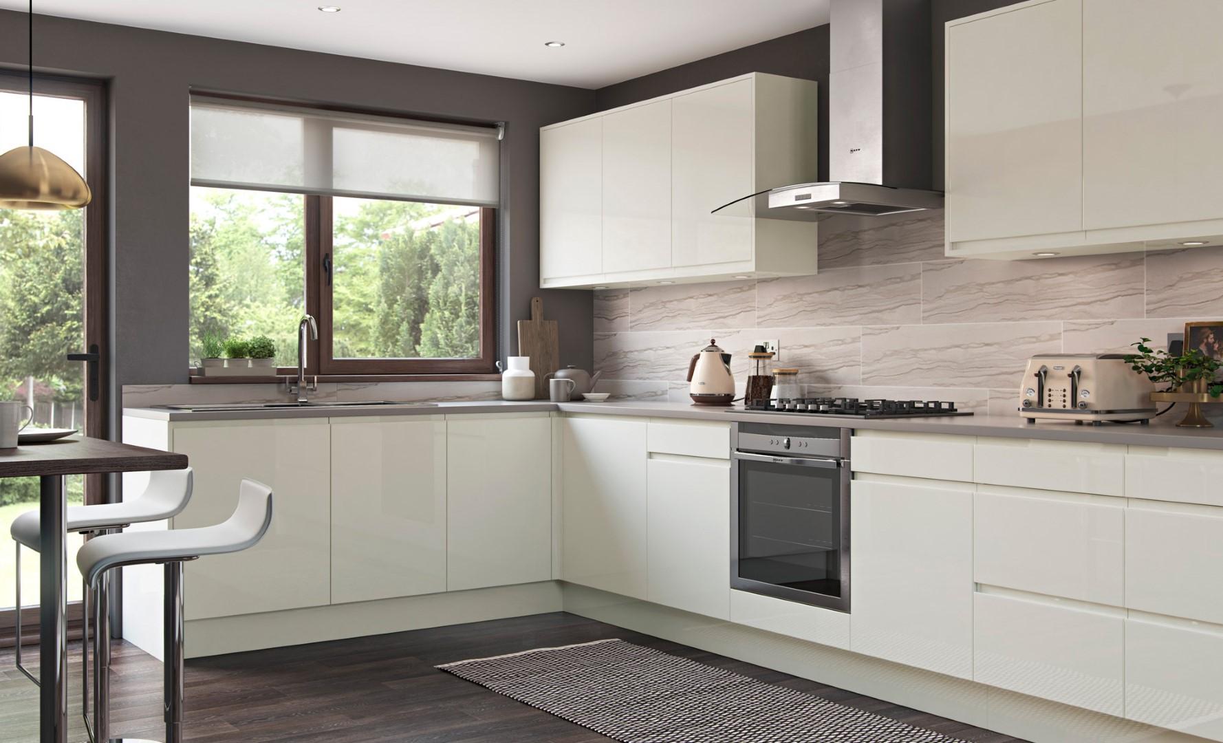 Modern Contemporary Kitchen - Strada Gloss Porcelain Kitchen - Kitchen Design - Alan Kelly Kitchens - Waterford