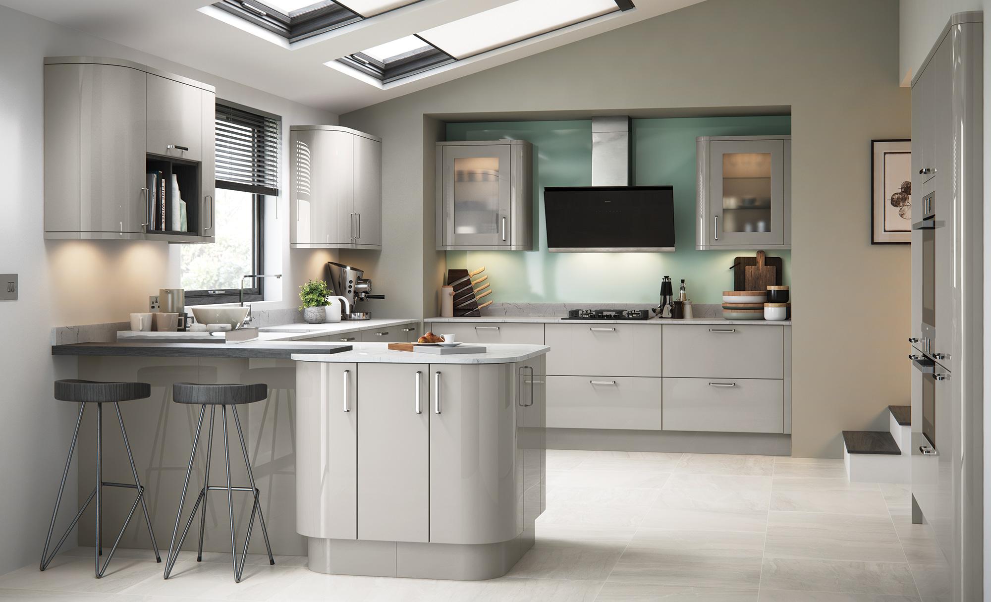 Modern Contemporary Kitchen - Zola Gloss Cashmere Kitchen - Kitchen Design - Alan Kelly Kitchens - Waterford