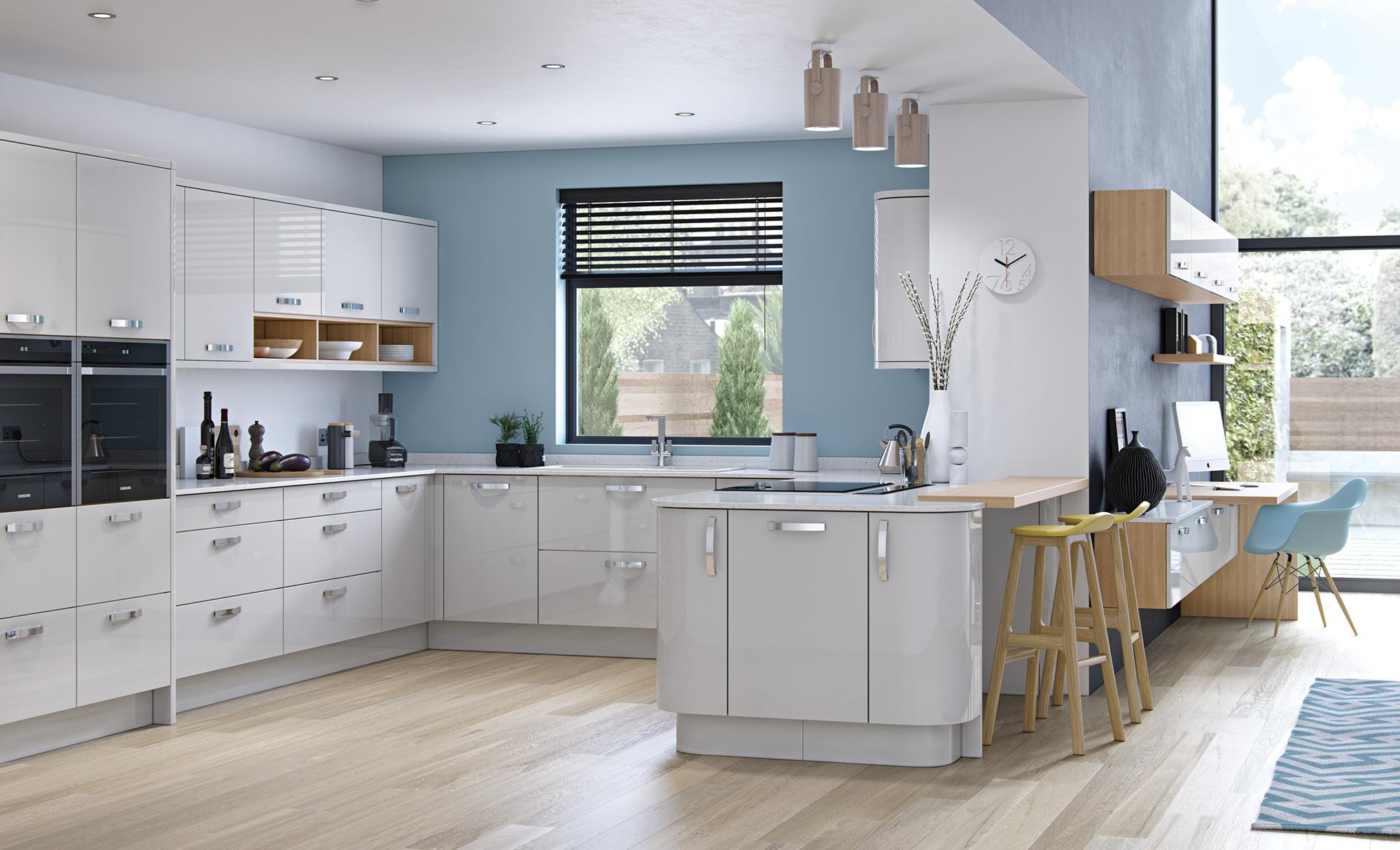 Modern Contemporary Kitchen - Zola Gloss Light Grey Kitchen - Kitchen Design - Alan Kelly Kitchens - Waterford