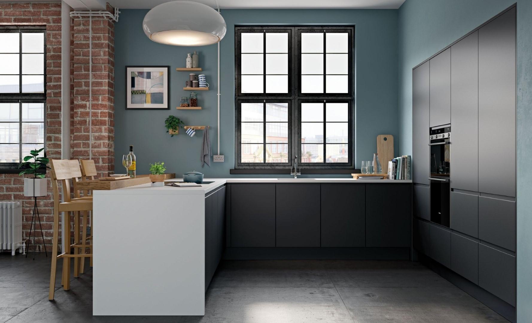 Modern Contemporary Strada Matte Graphite Kitchen - Kitchen Design - Alan Kelly Kitchens - Waterford