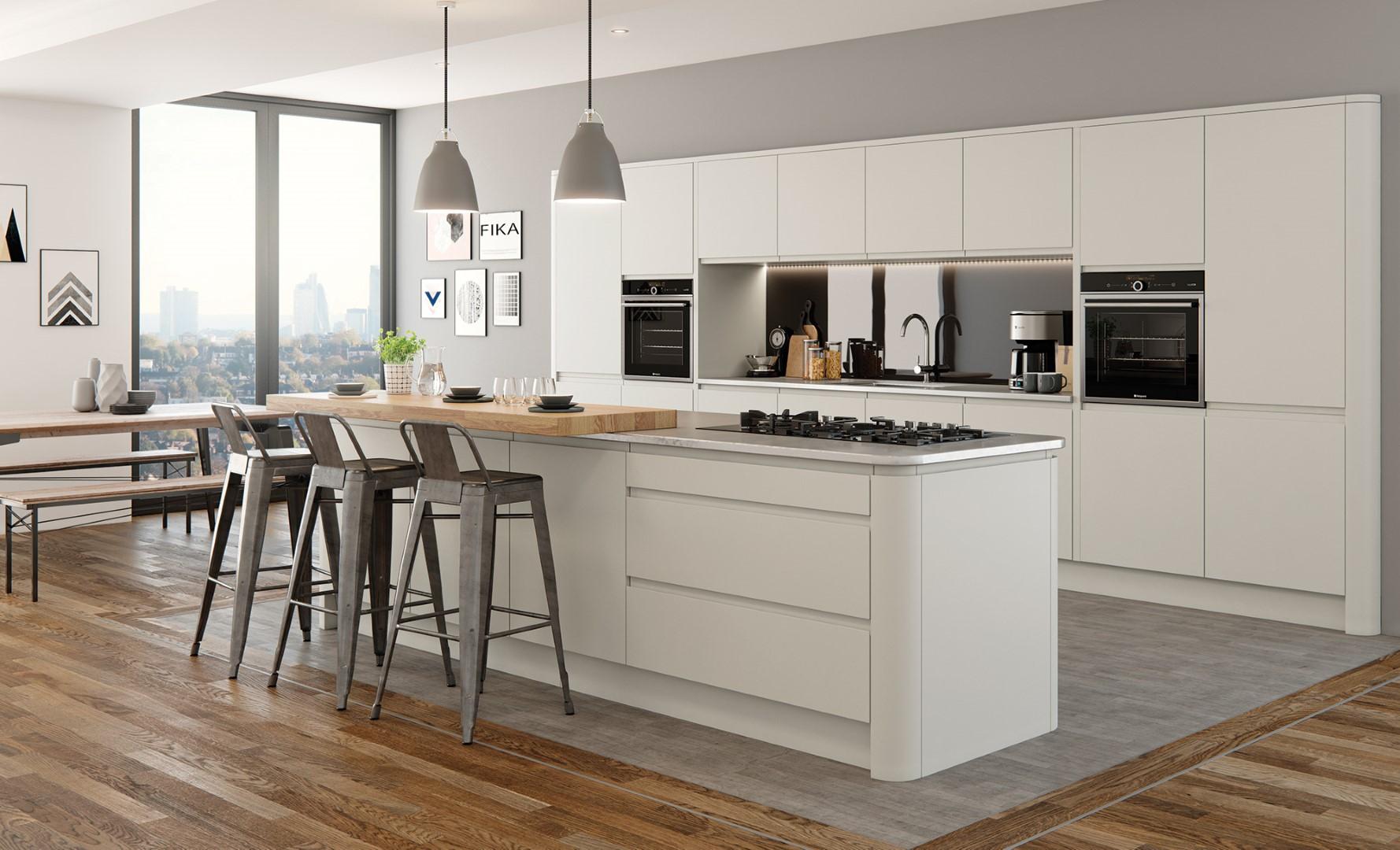 Modern Contemporary Strada Matte Painted Porcelain Kitchen - Kitchen Design - Alan Kelly Kitchens - Waterford