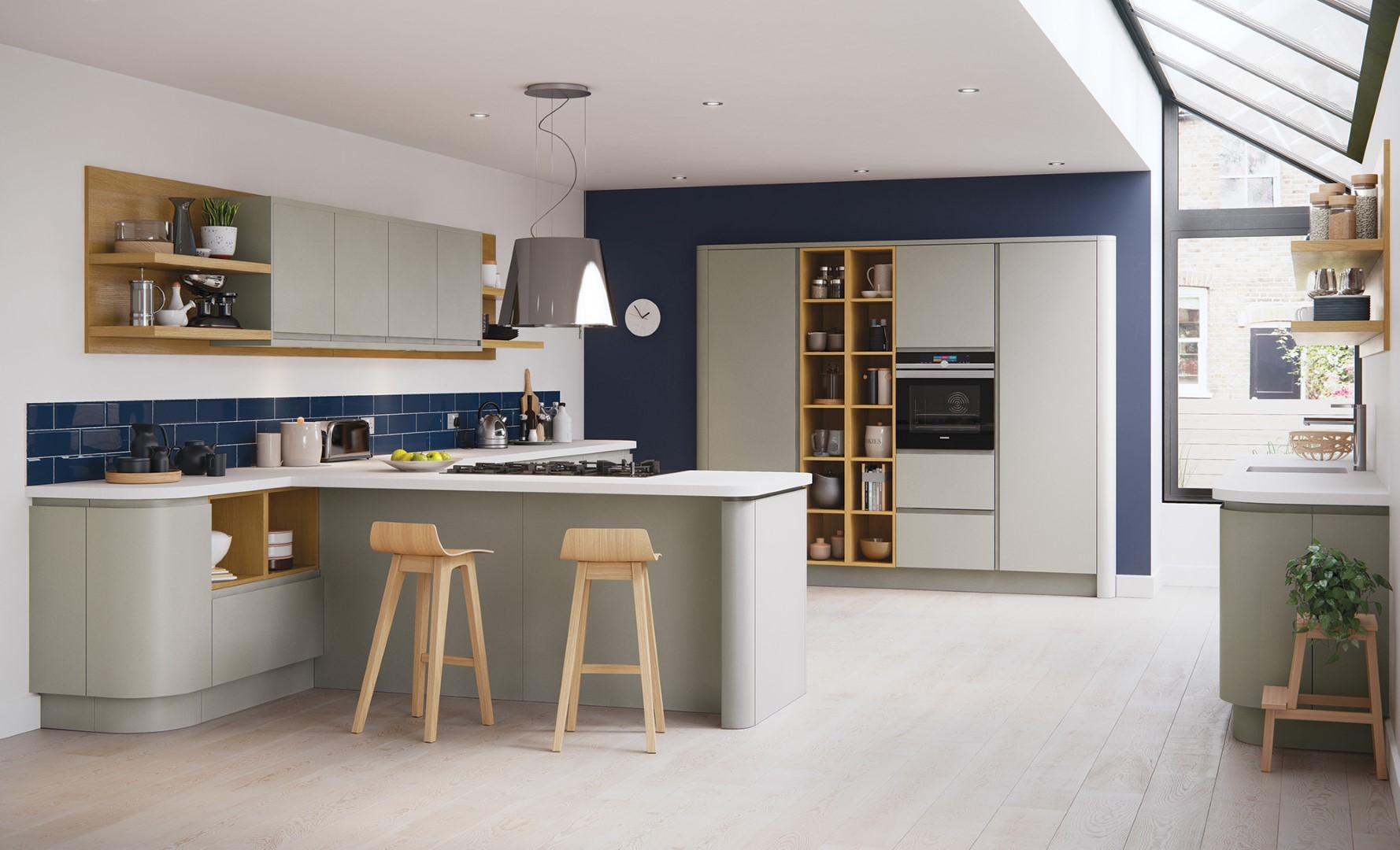 Modern Contemporary Strada Matte Stone Painted Kitchen - Kitchen Design - Alan Kelly Kitchens - Waterford