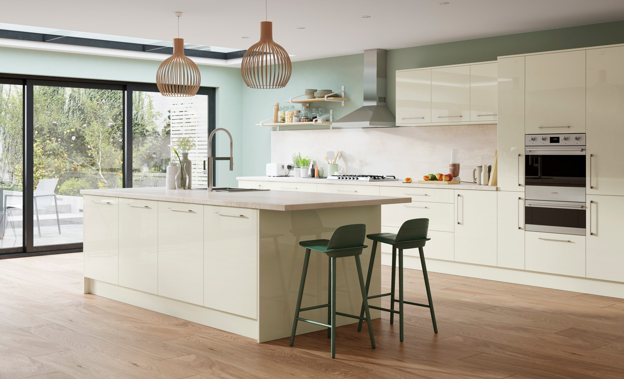 Modern Contemporary Zola Gloss Porcelain - Kitchen Design - Alan Kelly Kitchens - Waterford