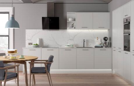 Modern Contemporary Zola Matte Light Grey Kitchen - Kitchen Design - Alan Kelly Kitchens - Waterford