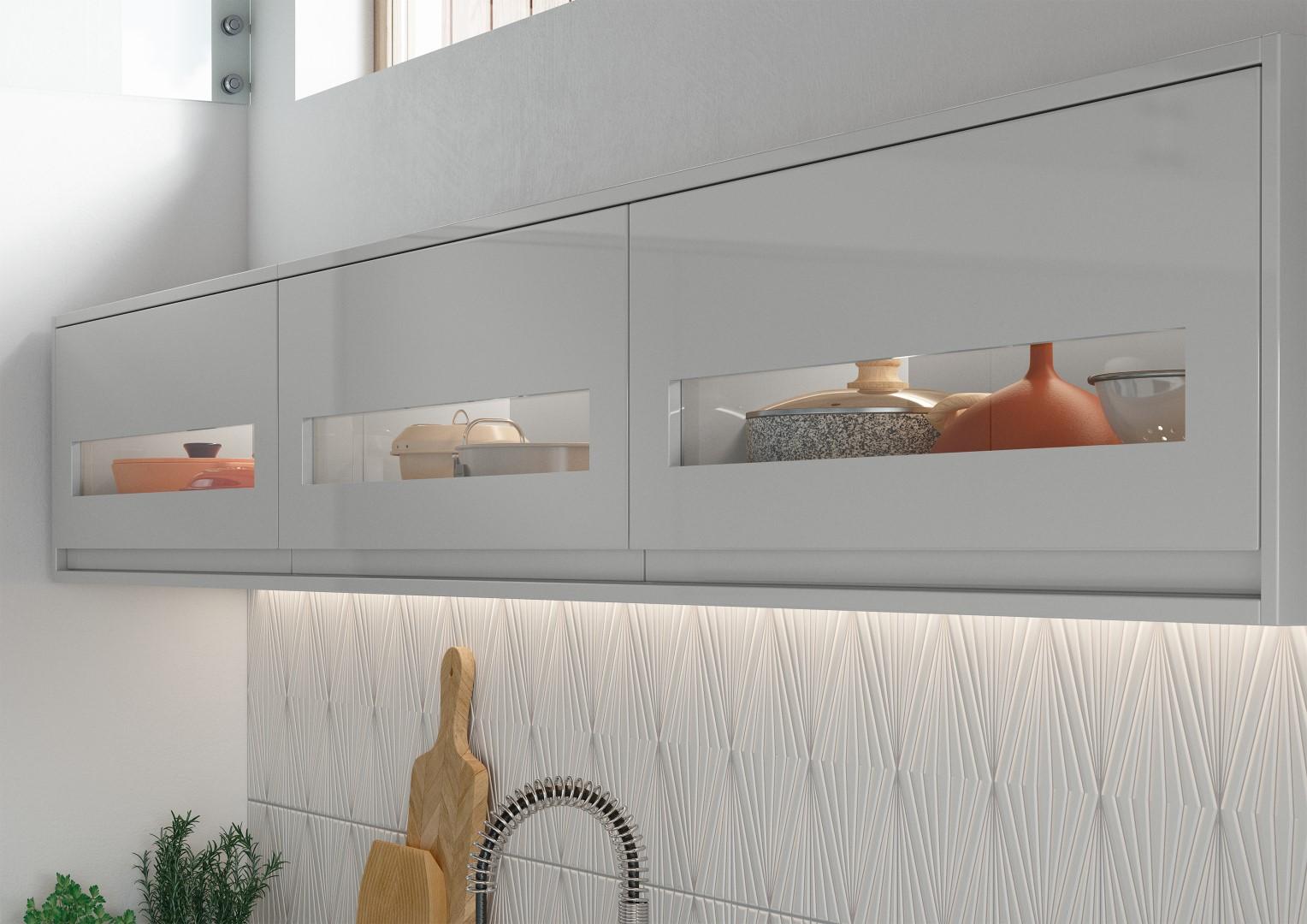 Strada Gloss Light Grey - Kitchen Design - Alan Kelly Kitchens - Waterford - 2