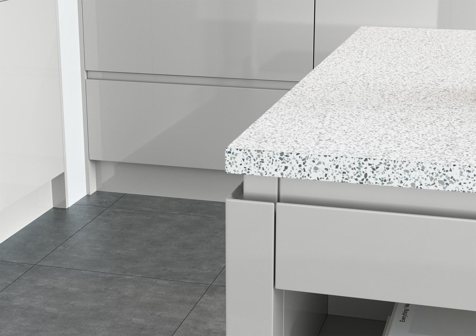 Strada Gloss Light Grey - Kitchen Design - Alan Kelly Kitchens - Waterford - 3