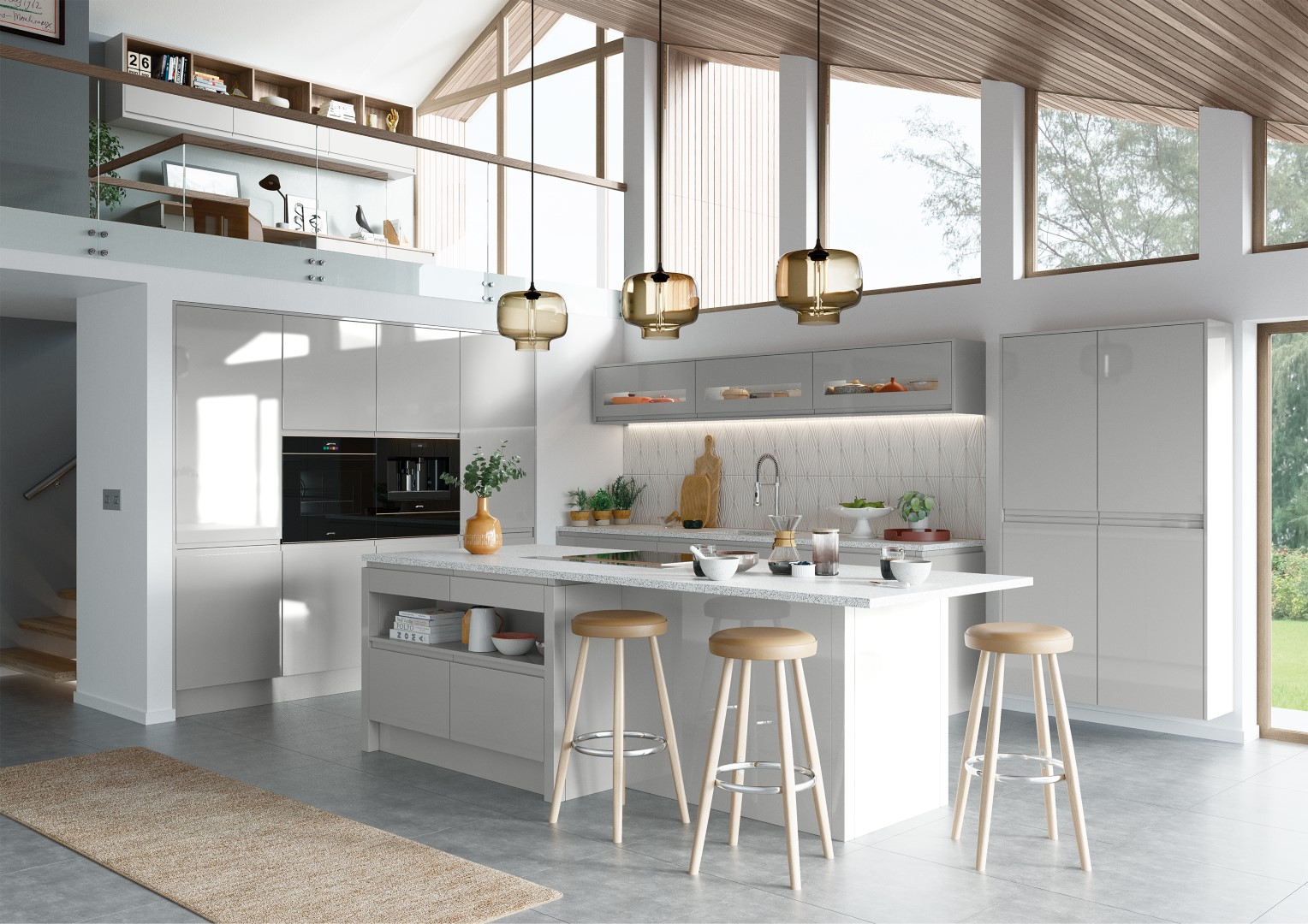 Strada Gloss Light Grey - Kitchen Design - Alan Kelly Kitchens - Waterford - 4